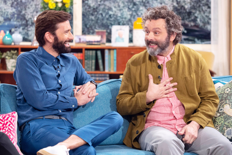 David Tennant and Michael Sheen on This Morning - Tuesday 28th May 2019 (Photo by Ken McKay/ITV/REX/Shutterstock)
